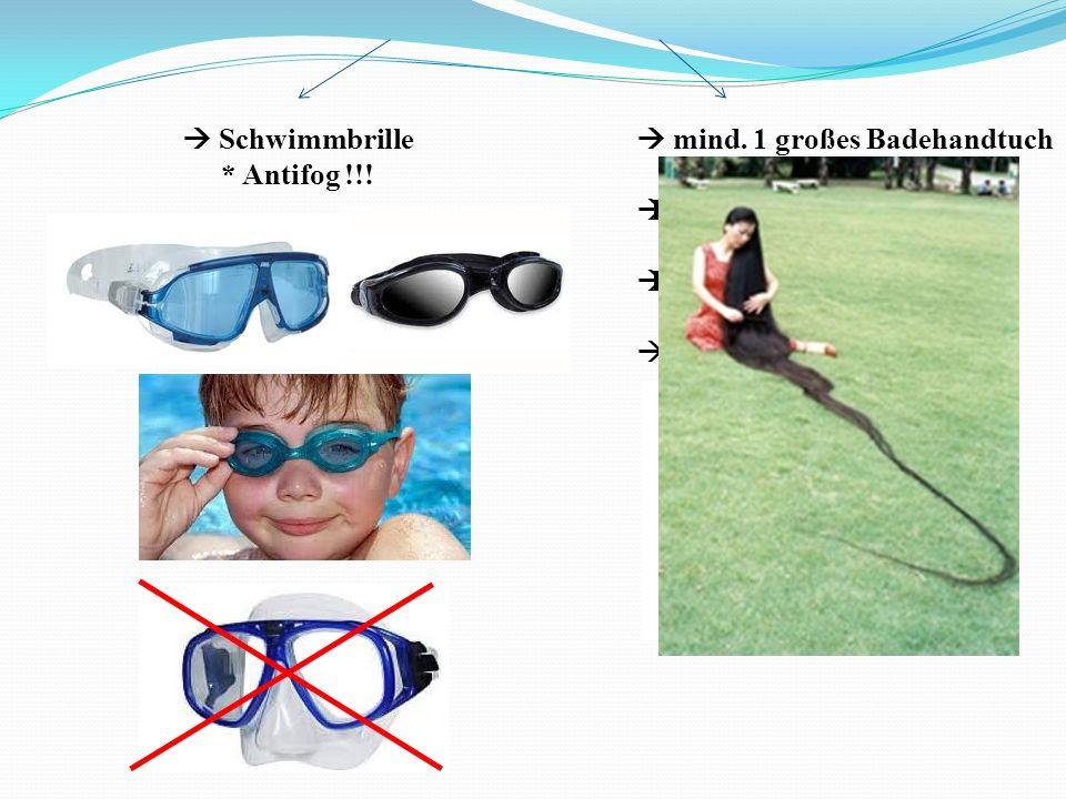 Was muss in meine Schwimmtasche? Schwimmutensilien