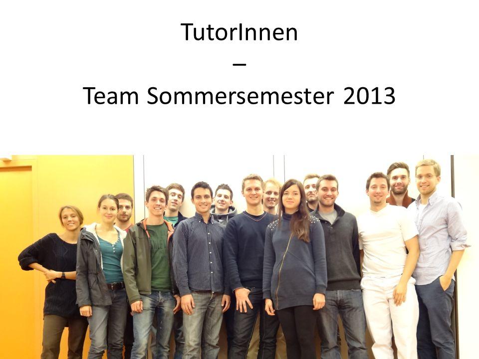 TutorInnen – Team Sommersemester 2013