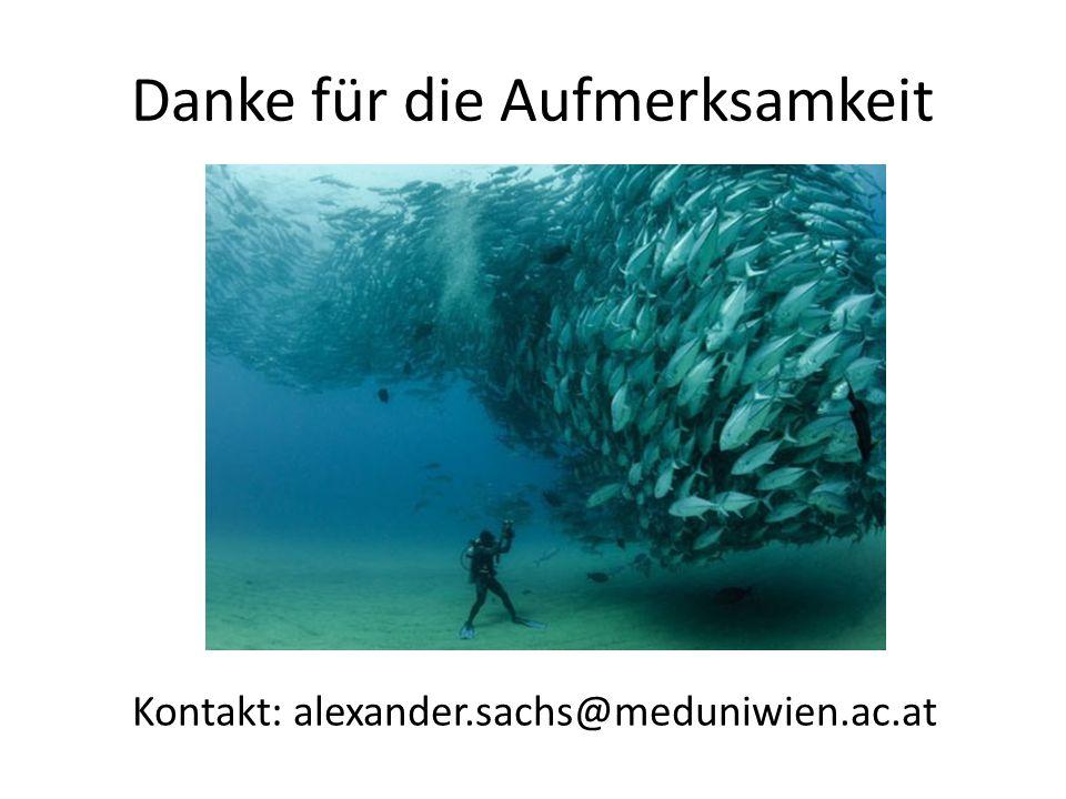 Danke für die Aufmerksamkeit Kontakt: alexander.sachs@meduniwien.ac.at