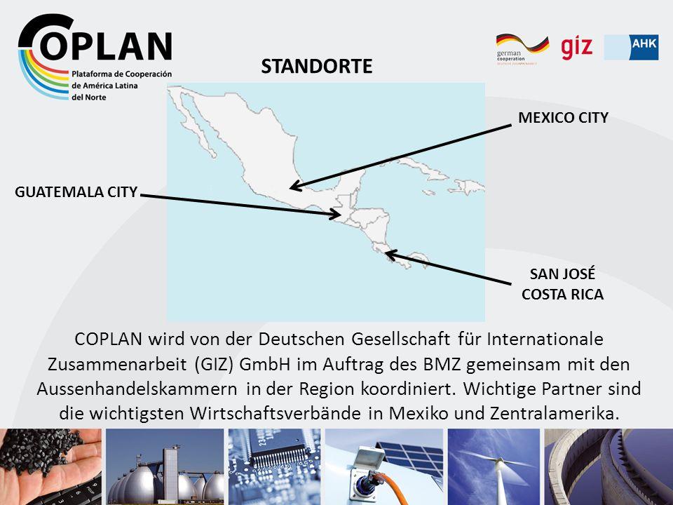 COPLAN wird von der Deutschen Gesellschaft für Internationale Zusammenarbeit (GIZ) GmbH im Auftrag des BMZ gemeinsam mit den Aussenhandelskammern in d