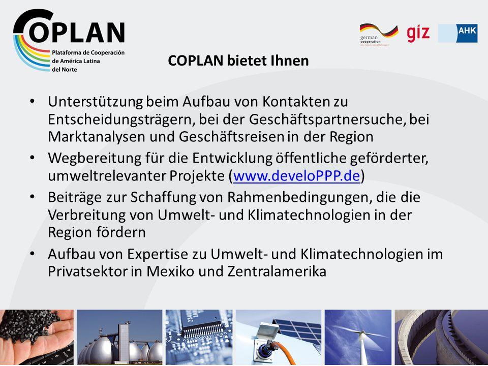 Unterstützung beim Aufbau von Kontakten zu Entscheidungsträgern, bei der Geschäftspartnersuche, bei Marktanalysen und Geschäftsreisen in der Region We