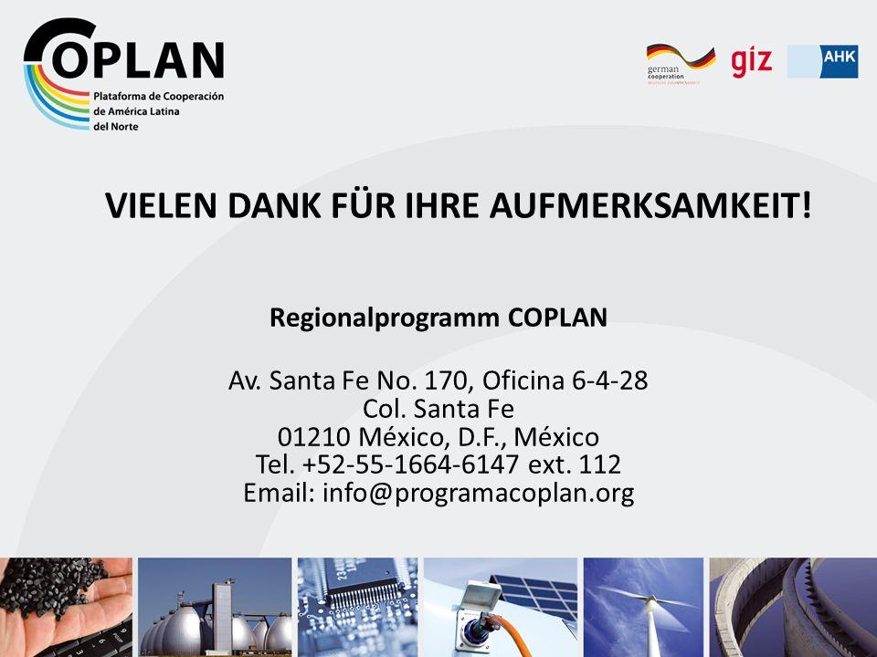 Regionalprogramm COPLAN Av. Santa Fe No. 170, Oficina 6-4-28 Col. Santa Fe 01210 México, D.F., México Tel. +52-55-1664-6147 ext. 112 Email: info@progr