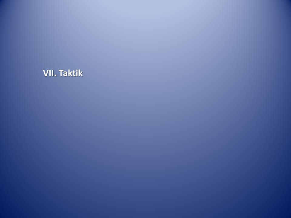 VII. Taktik