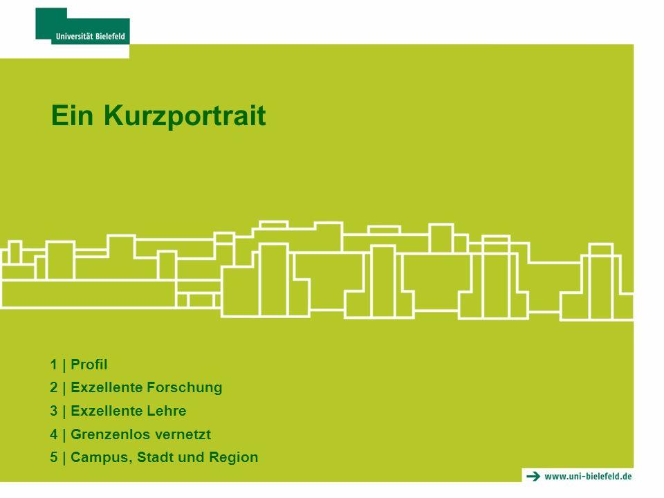 Ein Kurzportrait 1 | Profil 2 | Exzellente Forschung 3 | Exzellente Lehre 4 | Grenzenlos vernetzt 5 | Campus, Stadt und Region