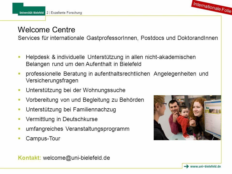 Welcome Centre Services für internationale GastprofessorInnen, Postdocs und DoktorandInnen Helpdesk & individuelle Unterstützung in allen nicht-akadem
