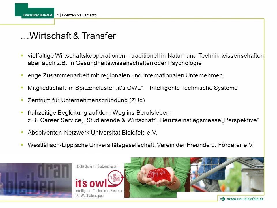 …Wirtschaft & Transfer vielfältige Wirtschaftskooperationen – traditionell in Natur- und Technik-wissenschaften, aber auch z.B. in Gesundheitswissensc