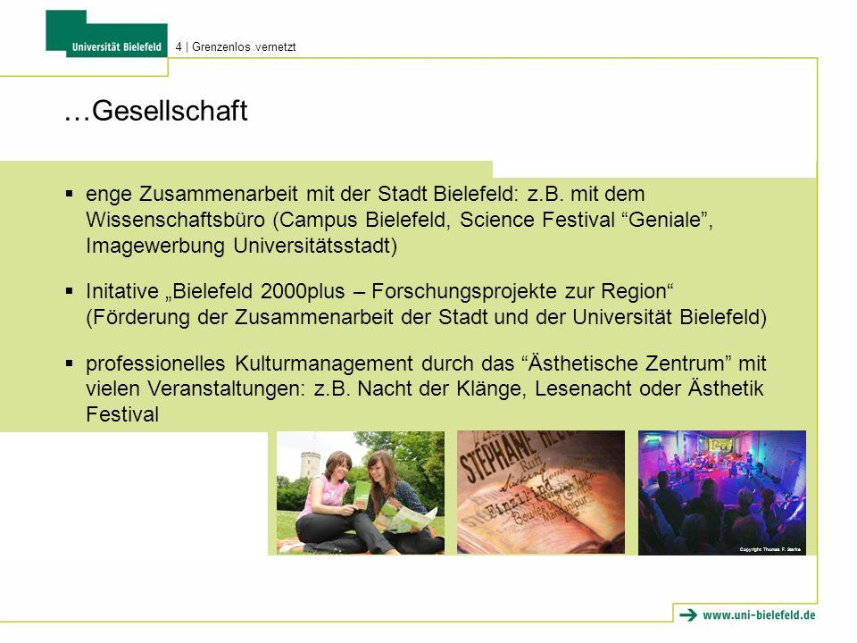Copyright: Thomas F. Starke …Gesellschaft enge Zusammenarbeit mit der Stadt Bielefeld: z.B. mit dem Wissenschaftsbüro (Campus Bielefeld, Science Festi