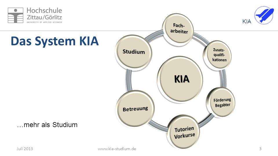KIA Das System KIA 3Juli 2013www.kia-studium.de …mehr als Studium