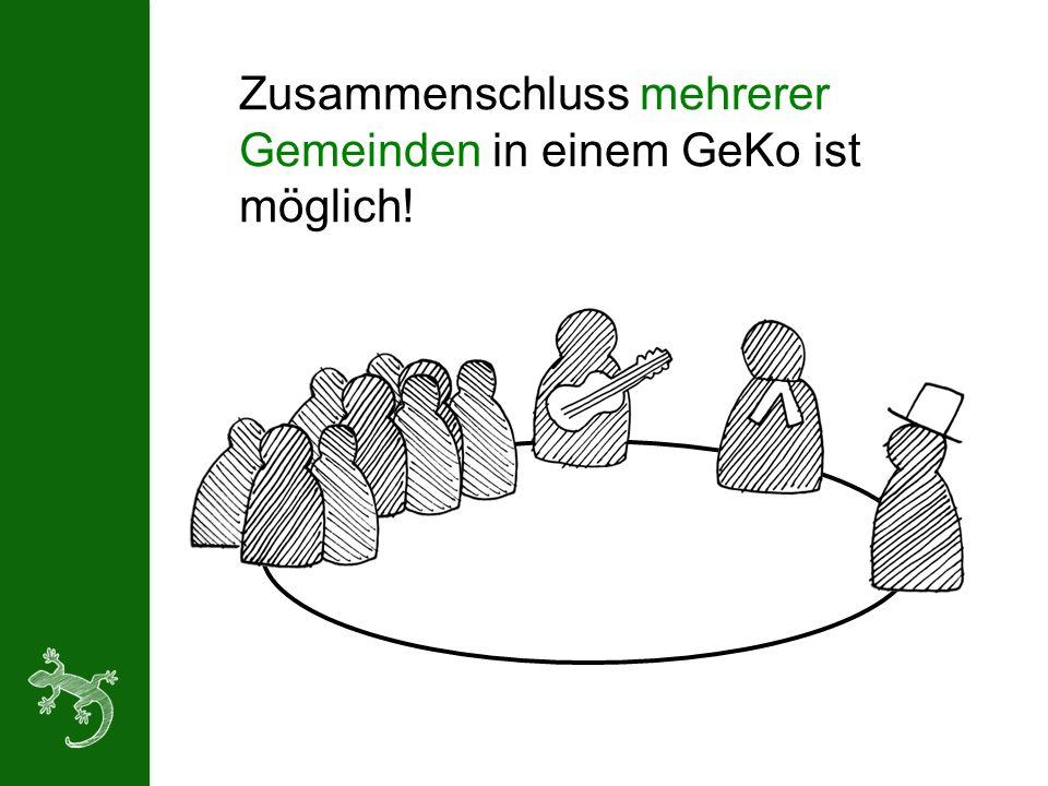 Zusammenschluss mehrerer Gemeinden in einem GeKo ist möglich!