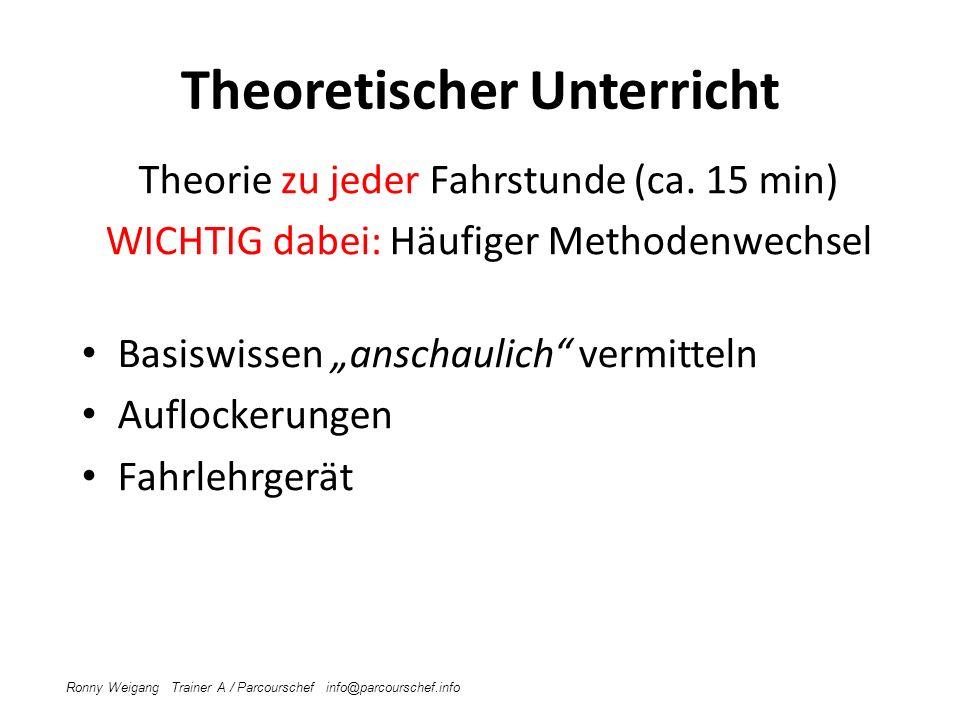 Theoretischer Unterricht Theorie zu jeder Fahrstunde (ca.