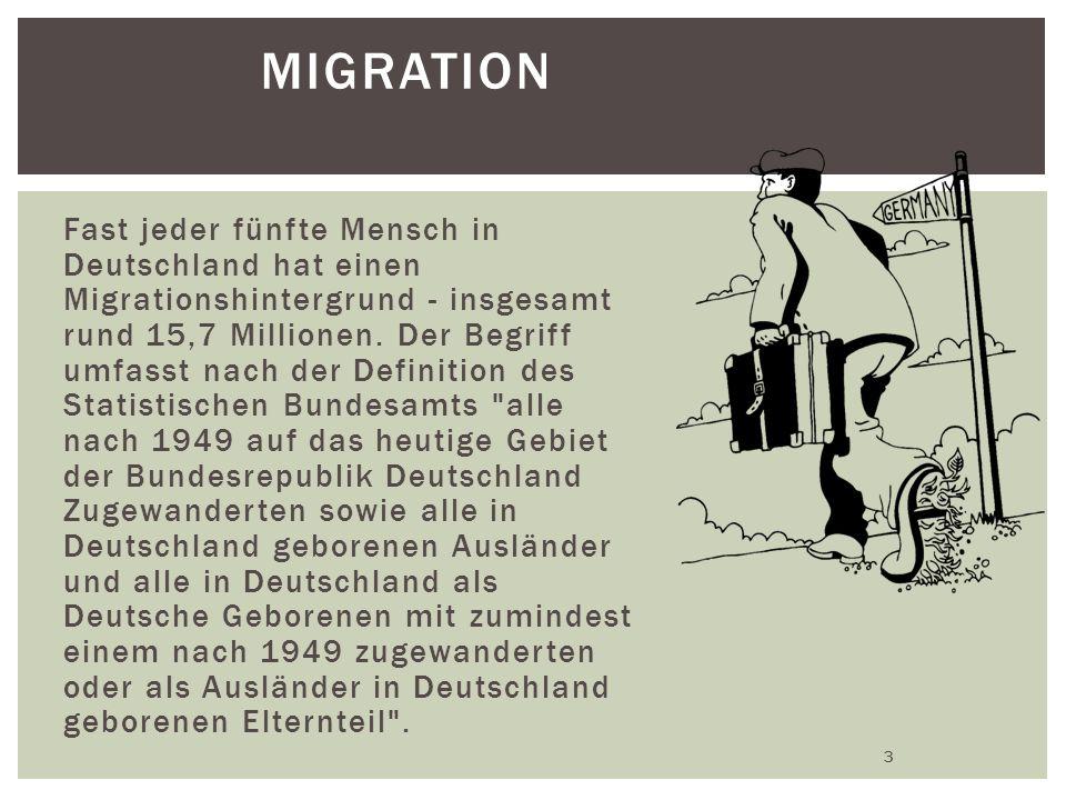 MIGRATION Fast jeder fünfte Mensch in Deutschland hat einen Migrationshintergrund - insgesamt rund 15,7 Millionen.