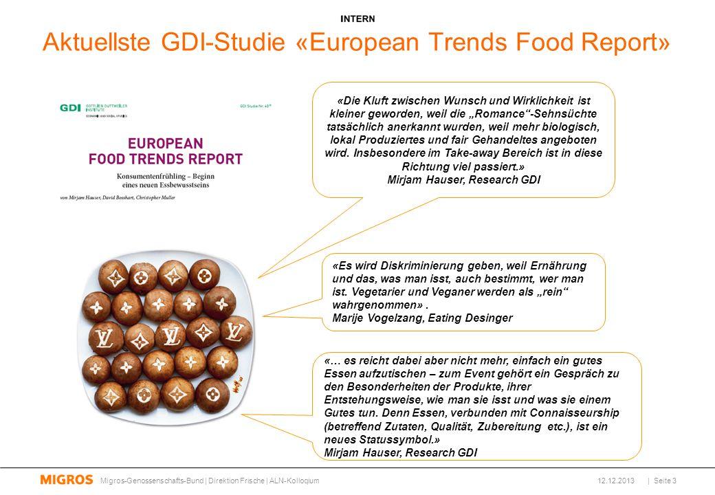 Aktuellste GDI-Studie «European Trends Food Report» «Es wird Diskriminierung geben, weil Ernährung und das, was man isst, auch bestimmt, wer man ist.