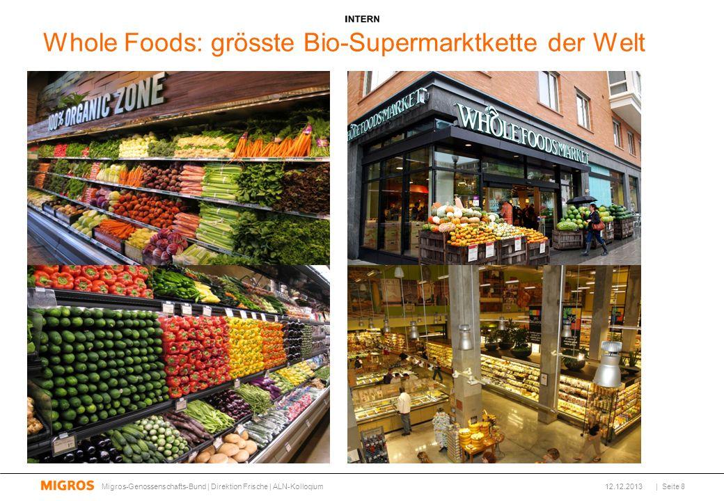 Whole Foods: grösste Bio-Supermarktkette der Welt 12.12.2013Migros-Genossenschafts-Bund | Direktion Frische | ALN-Kolloqium| Seite 8