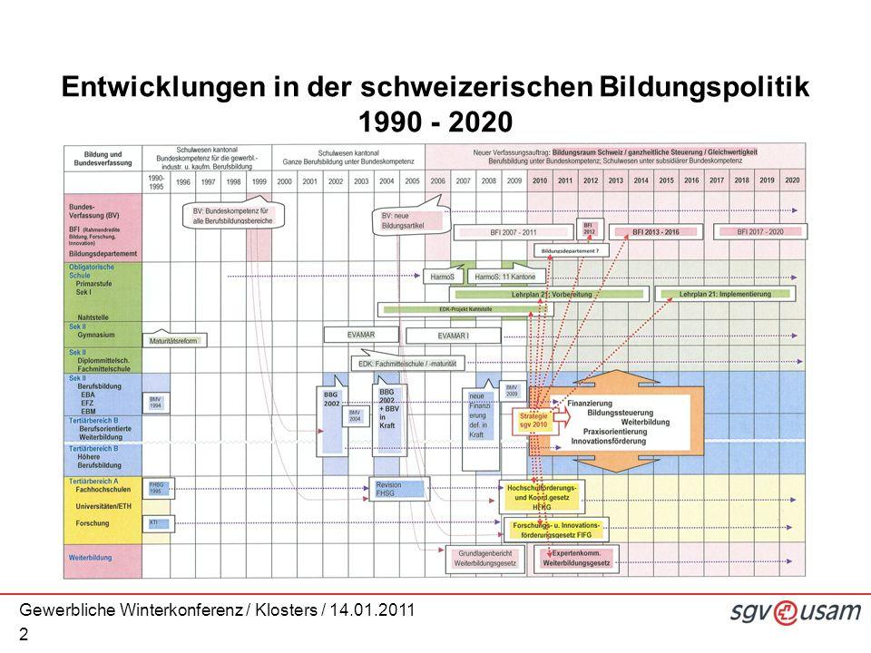 2 Entwicklungen in der schweizerischen Bildungspolitik 1990 - 2020