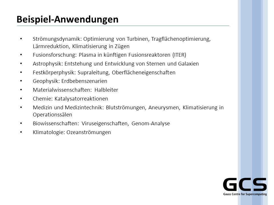 GCS und PRACE (1) o PRACE: Partnership for Advanced Computing in Europe Ziel: Aufbau eines europäischen HPC-Ökosystems Auslöser: FP7-Call (2007), Projekt Proposal 17.04.2007 PRACE Consortium: 15 Länder, Principal Partners D, F, GB, E, NL Deutschland vertreten durch GCS GCS ist Principal Partner und Projektkoordinator (Jülich) o Preparatory Phase ab 01.01.2008 – 2010 (20 Mio.