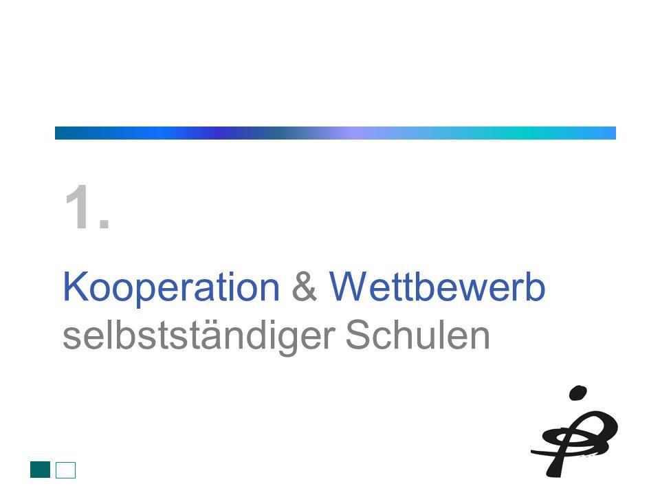 Kooperation & Wettbewerb selbstständiger Schulen 1.