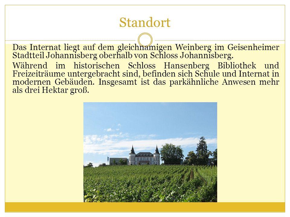 Standort Das Internat liegt auf dem gleichnamigen Weinberg im Geisenheimer Stadtteil Johannisberg oberhalb von Schloss Johannisberg. Während im histor