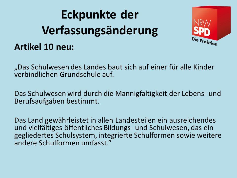 Eckpunkte der Schulrechtsänderung Sekundarschule: Alle Abschlüsse der Sek.