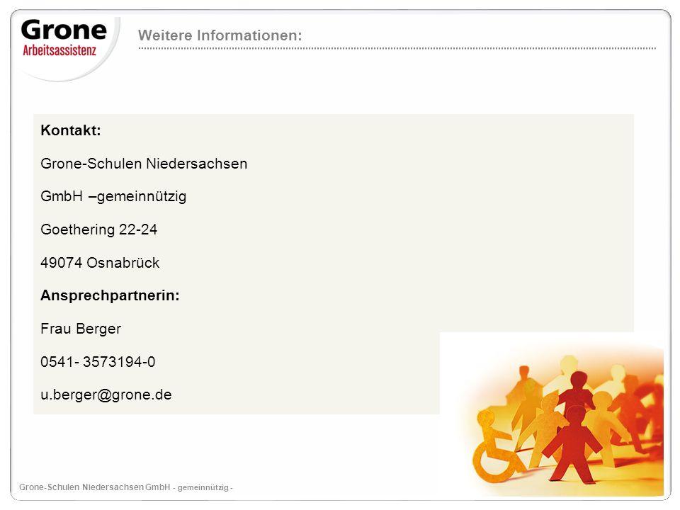 12 Grone-Schulen Niedersachsen GmbH - gemeinnützig - Weitere Informationen: Ab dem 1.