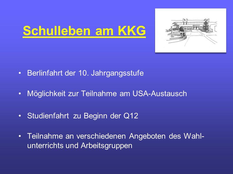 Schulleben am KKG Berlinfahrt der 10.
