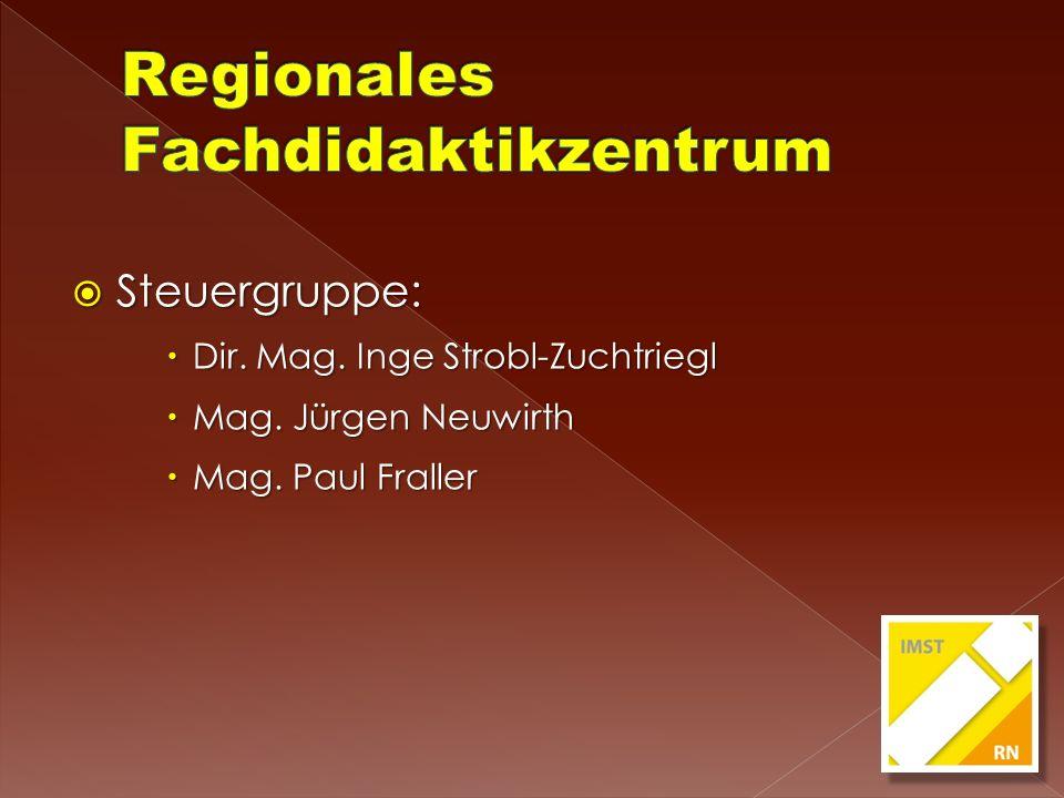 Steuergruppe: Steuergruppe: Dir. Mag. Inge Strobl-Zuchtriegl Dir. Mag. Inge Strobl-Zuchtriegl Mag. Jürgen Neuwirth Mag. Jürgen Neuwirth Mag. Paul Fral