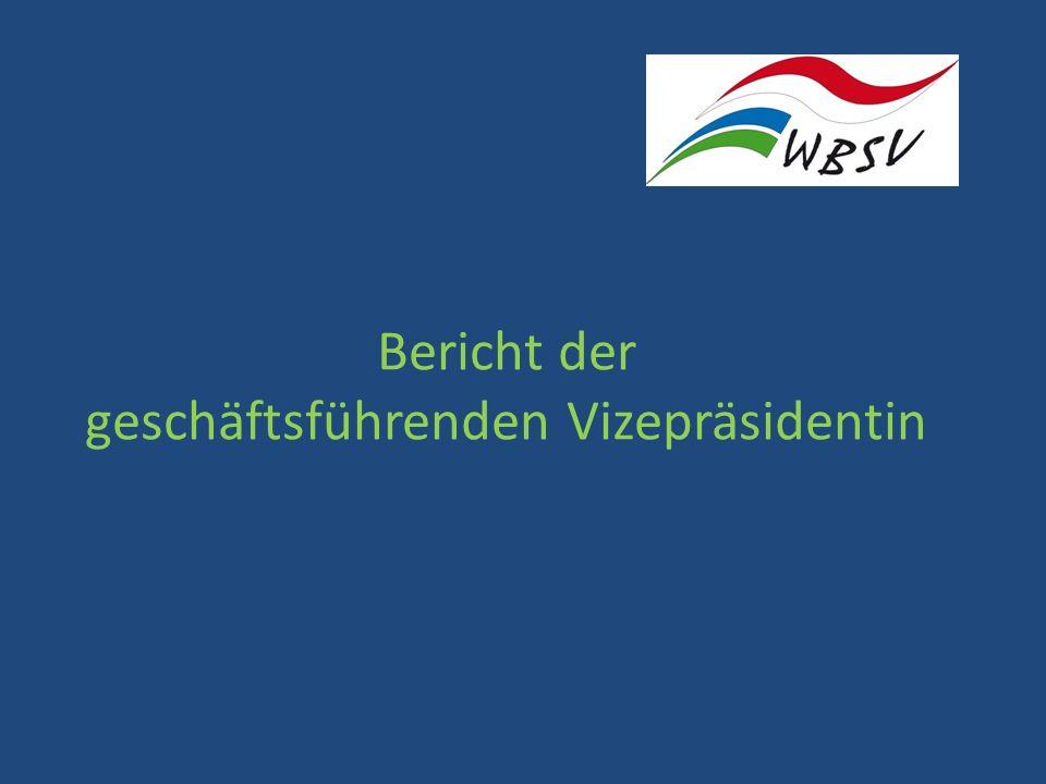 Bericht der geschäftsführenden Vizepräsidentin