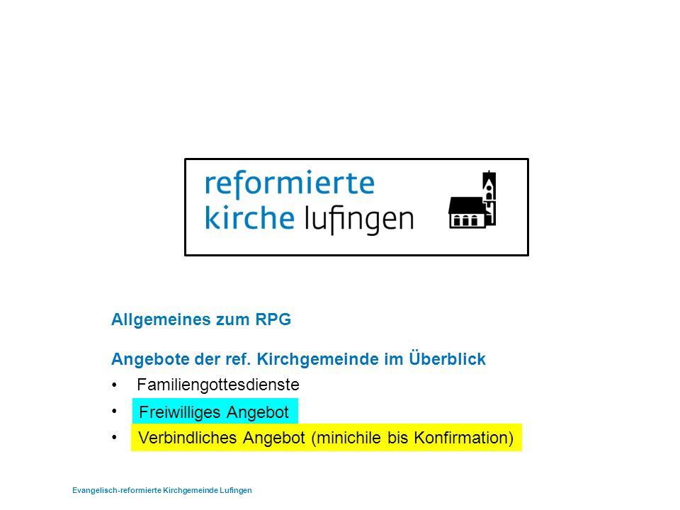 Allgemeines zum RPG Angebote der ref.