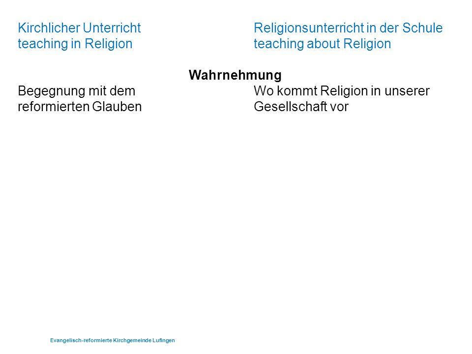 Evangelisch-reformierte Kirchgemeinde Lufingen