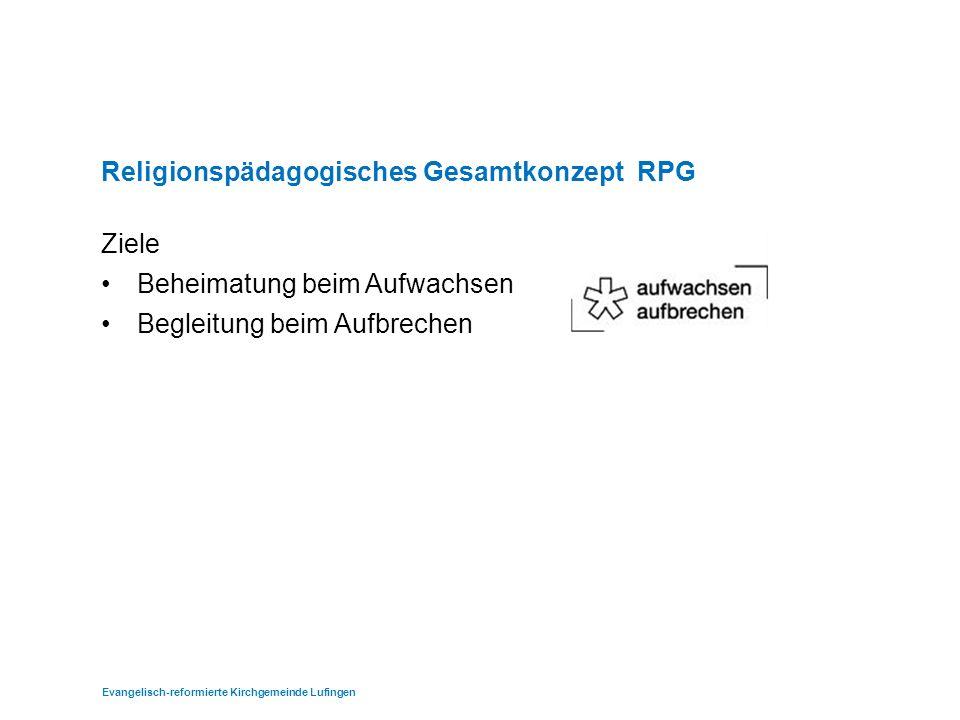 Verbindliches Angebot Freiwilliges Angebot Religionspädagogisches Gesamtkonzept (RPG): Angebote im Überblick Evangelisch-reformierte Kirchgemeinde Lufingen