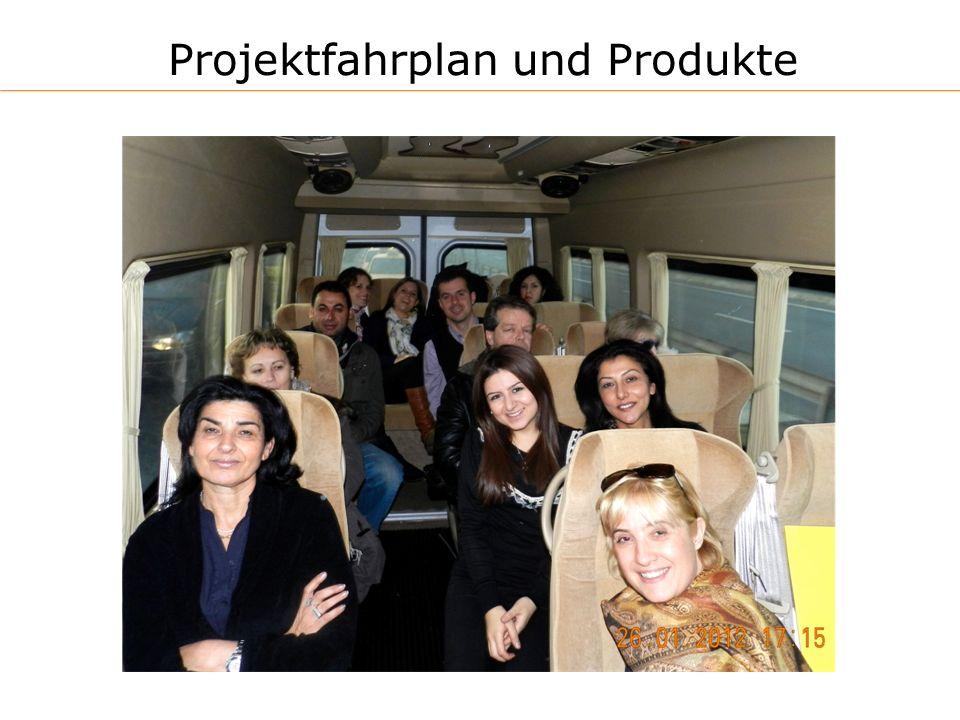 Projektfahrplan und Produkte