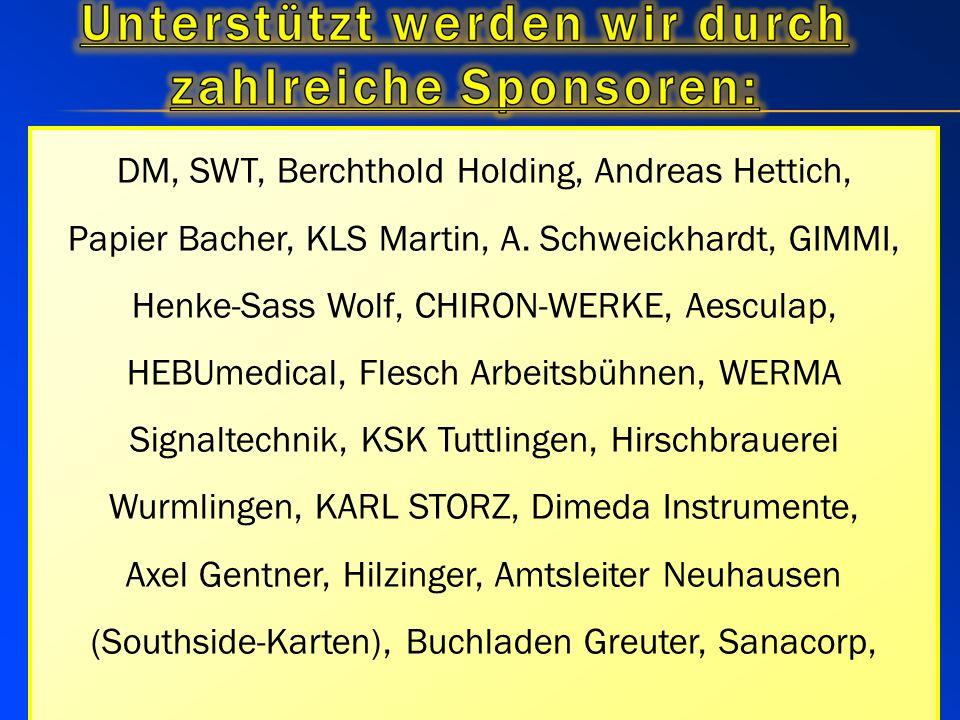 DM, SWT, Berchthold Holding, Andreas Hettich, Papier Bacher, KLS Martin, A.