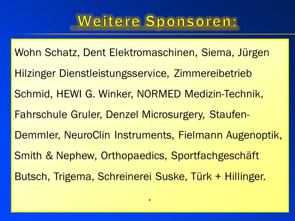 Siema Siegfried Martin Gmbh Jürgen Hilzinger Dienstleistungsservice Zimmereibetrieb Schmid HEWI G. Winker GmbH NORMED Medizin-Technik GmbH Fahrschule