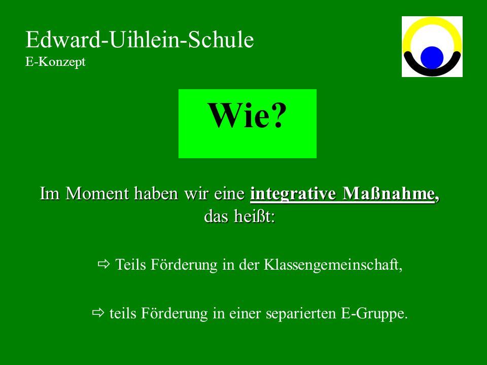Wie.Edward-Uihlein-Schule E-Konzept MontagDienstagMittwochDonnerstagFreitag 1.