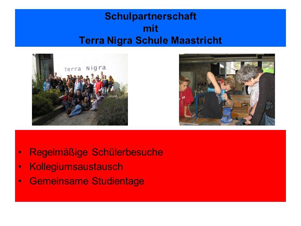 Schulpartnerschaft mit Terra Nigra Schule Maastricht Regelmäßige Schülerbesuche Kollegiumsaustausch Gemeinsame Studientage
