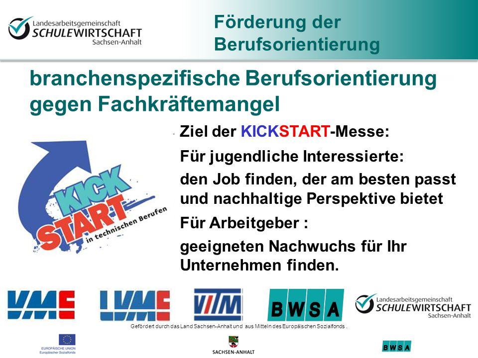 Gefördert durch das Land Sachsen-Anhalt und aus Mitteln des Europäischen Sozialfonds.