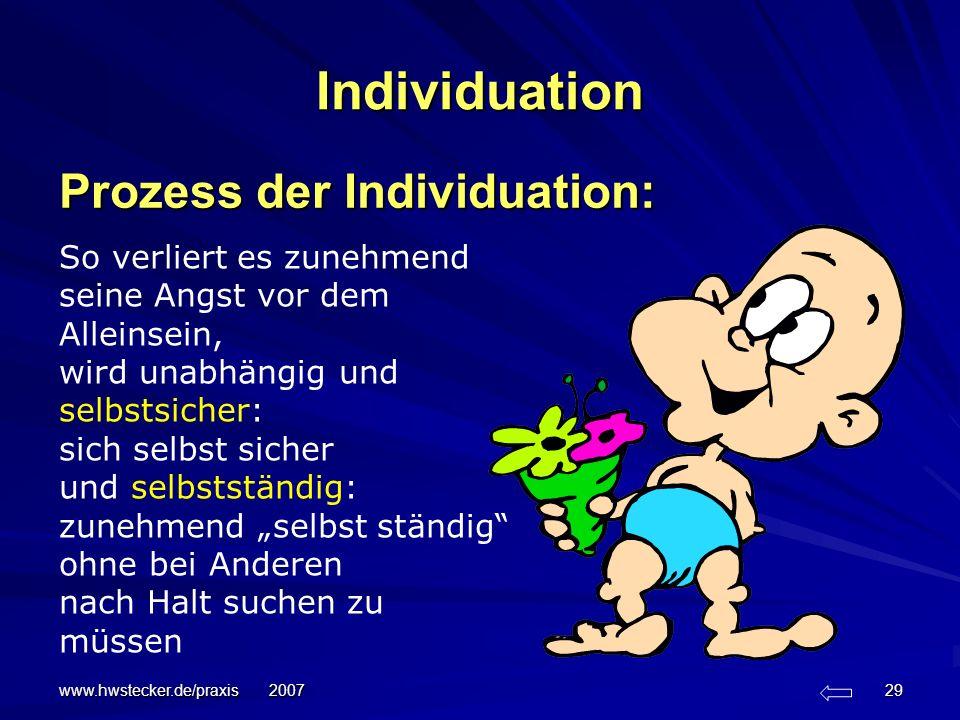 www.hwstecker.de/praxis 2007 29 So verliert es zunehmend seine Angst vor dem Alleinsein, wird unabhängig und selbstsicher: sich selbst sicher und selb
