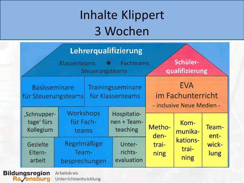Arbeitskreis Unterrichtsentwicklung 4.