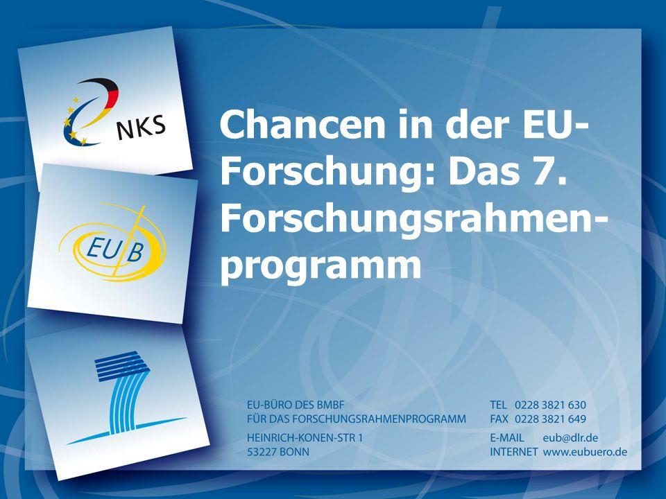 Chancen in der EU- Forschung: Das 7. Forschungsrahmen- programm