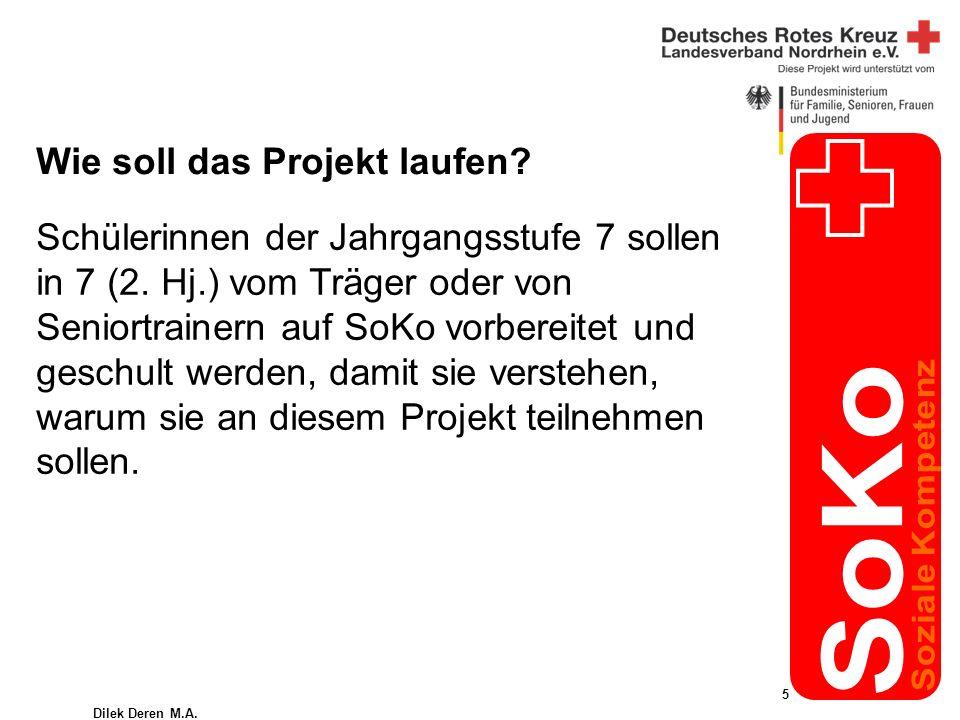 Dilek Deren M.A. 5 Wie soll das Projekt laufen. Schülerinnen der Jahrgangsstufe 7 sollen in 7 (2.