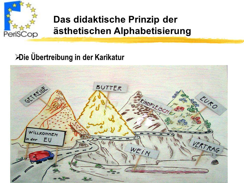 Das didaktische Prinzip der ästhetischen Alphabetisierung Die Übertreibung in der Karikatur