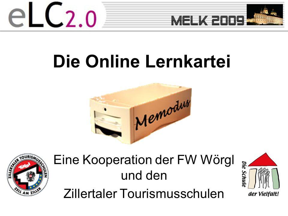 Die Online Lernkartei Eine Kooperation der FW Wörgl und den Zillertaler Tourismusschulen