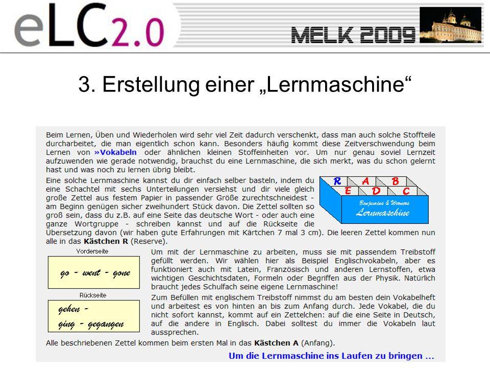3. Erstellung einer Lernmaschine