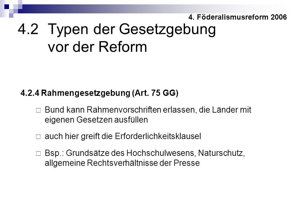 4.2.4 Rahmengesetzgebung (Art.