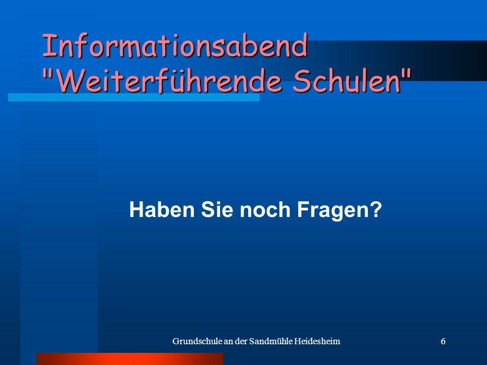 6 Informationsabend