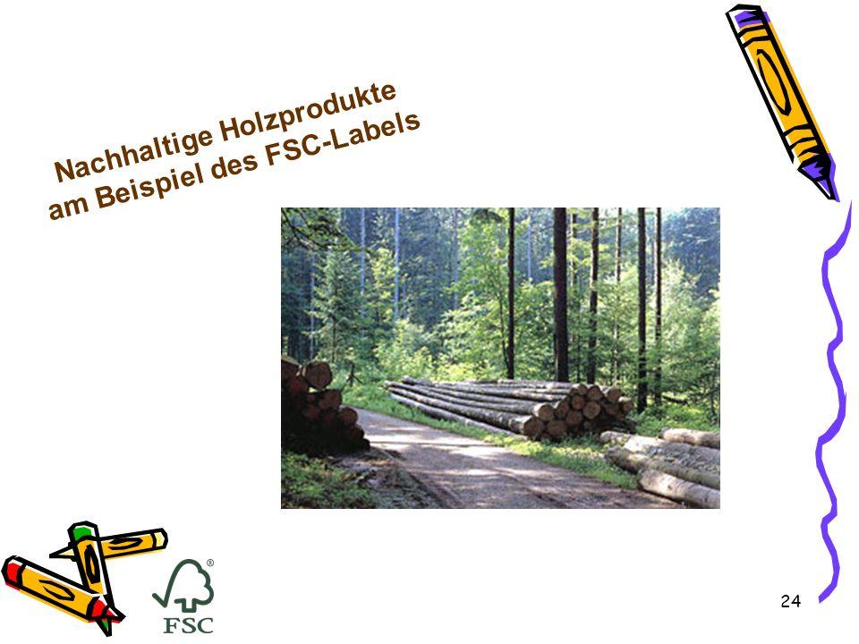 24 Nachhaltige Holzprodukte am Beispiel des FSC-Labels
