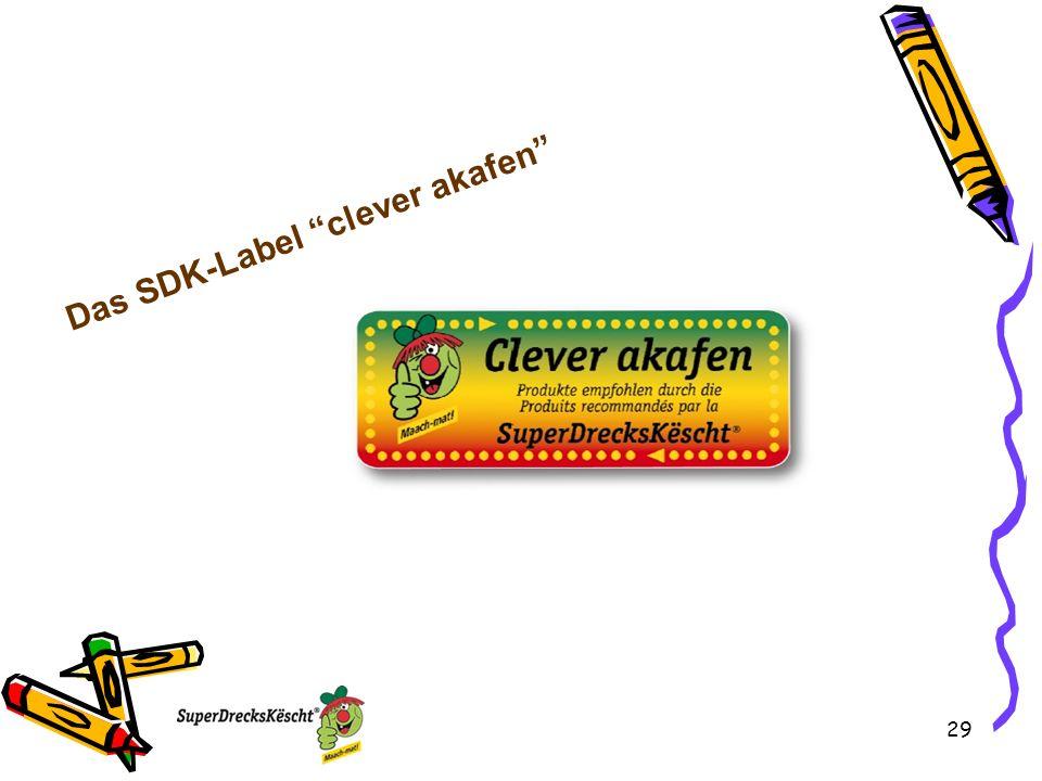 29 Das SDK-Label clever akafen