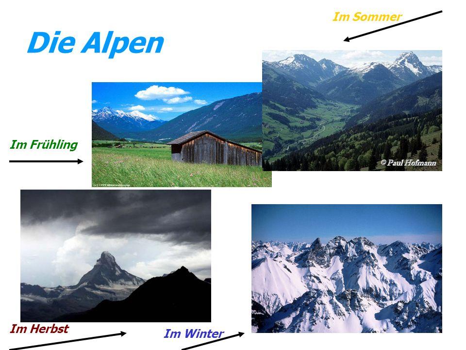 Die Alpen Im Frühling Im Sommer Im Herbst Im Winter