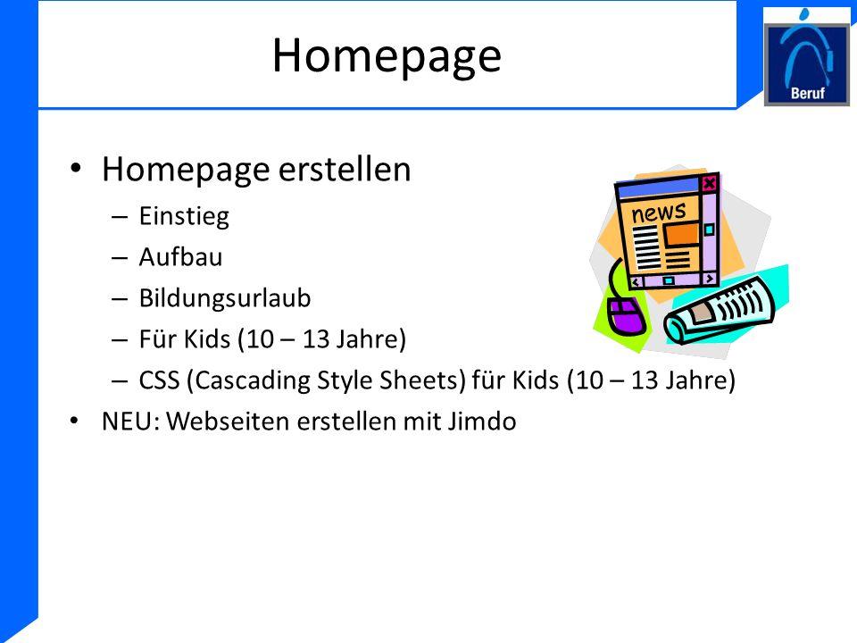 Homepage Homepage erstellen – Einstieg – Aufbau – Bildungsurlaub – Für Kids (10 – 13 Jahre) – CSS (Cascading Style Sheets) für Kids (10 – 13 Jahre) NE