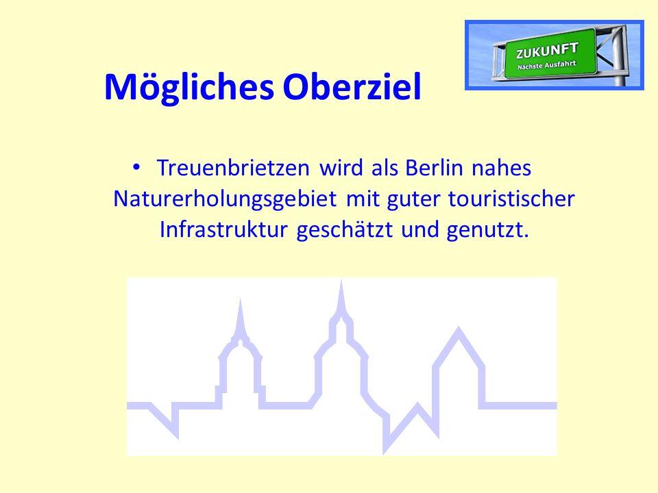 Mögliches Oberziel Treuenbrietzen wird als Berlin nahes Naturerholungsgebiet mit guter touristischer Infrastruktur geschätzt und genutzt.
