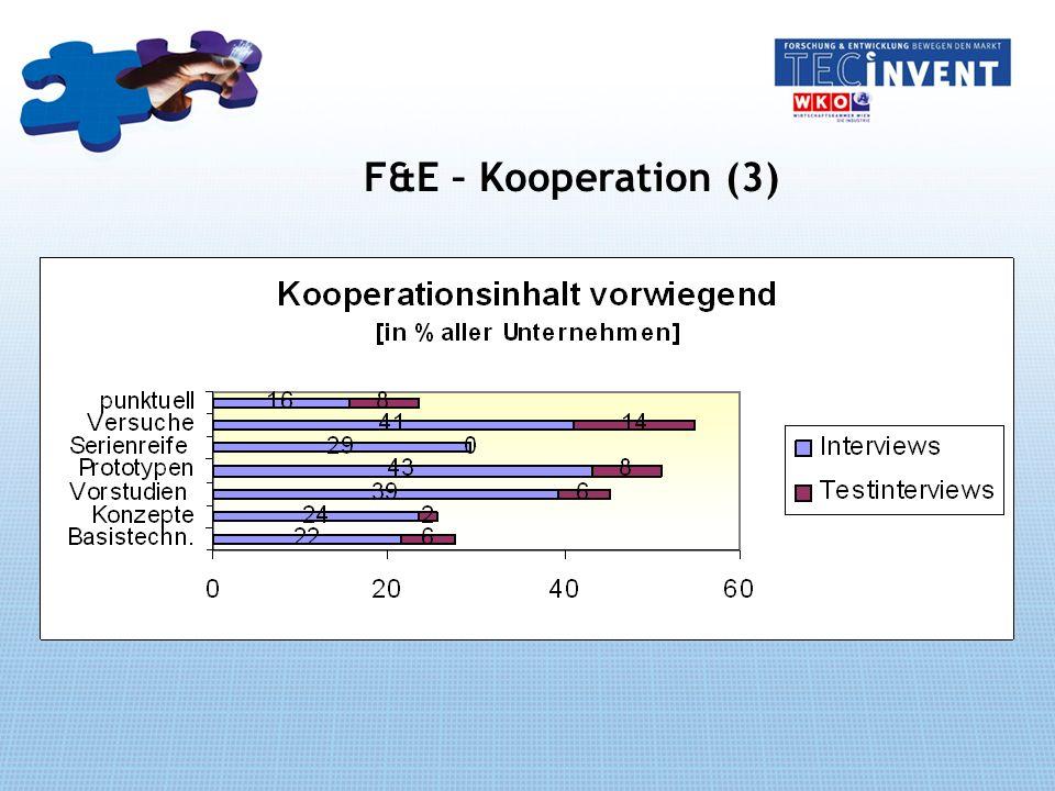 F&E – Kooperation (3)